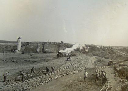 Koberbachtalsperre Baustelle 1929
