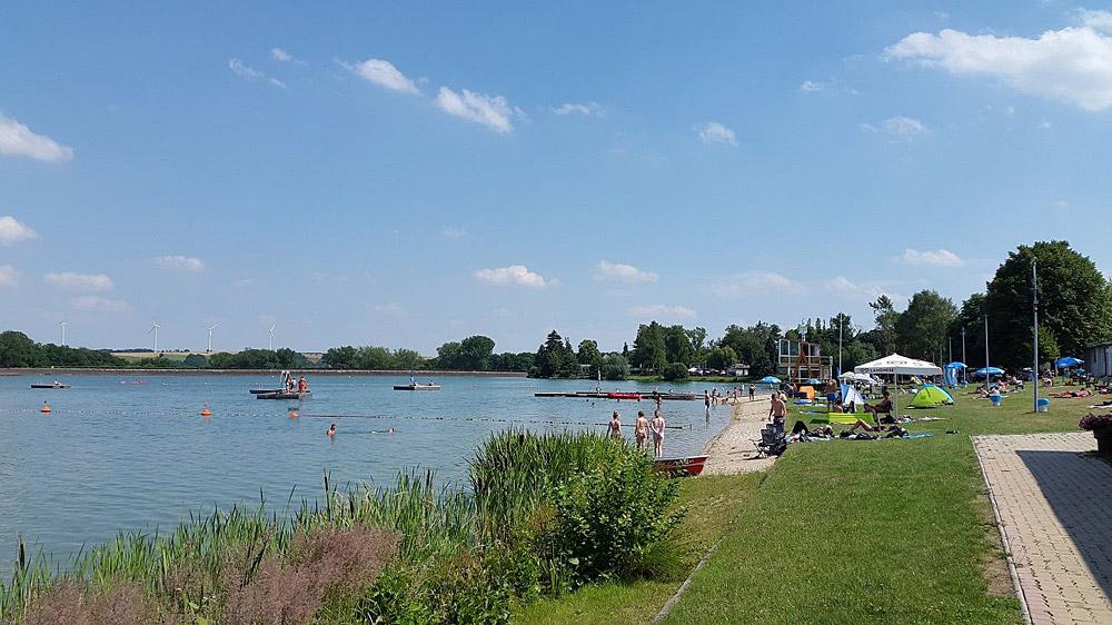 Koberbachtalsperre Strandbad Liegewiese